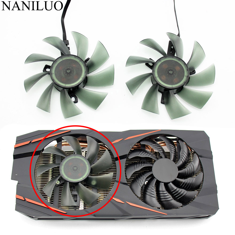 Cooling Fan for Gigabyte GTX 1050 1060 1070 960 RX 470 480 570 580 Graphics Card Cooler Fan,PLD09210S12HH-A