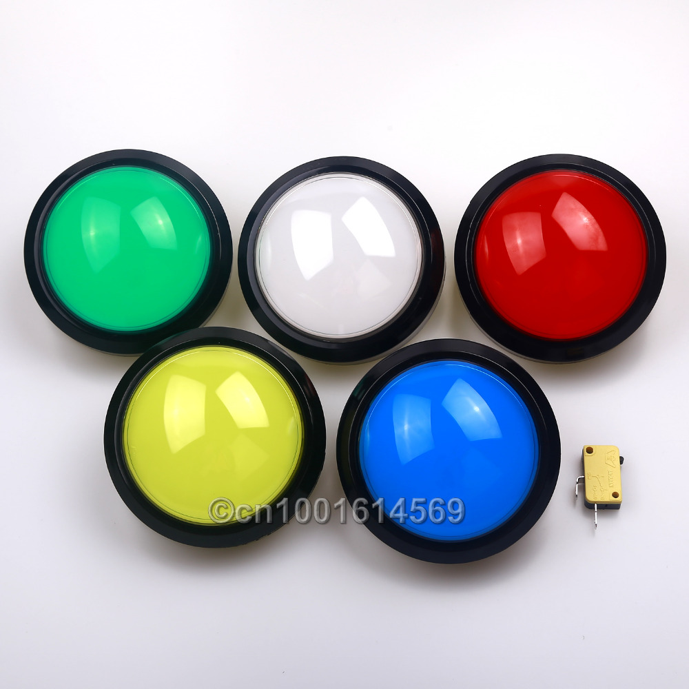 5x 100mm Push Button Arcade Button Led Micro Switch Momentary Illuminated 5V Power Button Switch For Mini Table Top Arcade Games