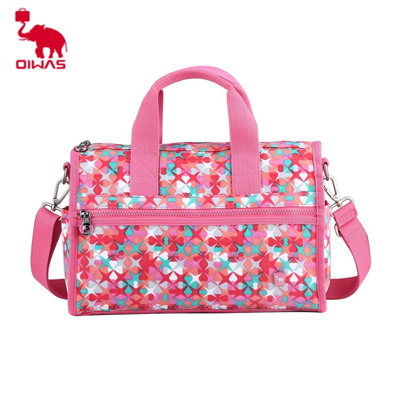 2018 NEW Oiwas OCT1611 Cute Pattern Portable Waterproof Polyester Handbag Travel Bag Zipper Bag Portable Organizer цена и фото
