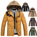 Parka envío libre de 2017 nuevos hombres abajo chaqueta de invierno y otoño con capucha impermeable hombres de la manera abajo chaqueta larga lxy215