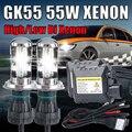 Un conjunto 55 W Xenon H4 hi lo hid kit h4 bixenon hi lo haz H4-3 h4 bi xenon h4 4300 K 6000 k 8000 k 10000 k