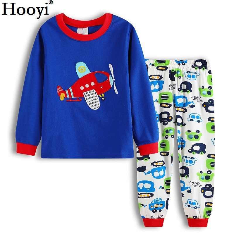 880918d535ab ... Hooyi Baby Boys Pajamas Suit Girls Sleepwear Sleep Suits Kids T-shirts  Pants Children pyjama
