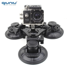 QIUNIU Ultra large 90mm Triple Suction Cup Mount Vacuum Holder Stand for GoPro Hero 7 6 5 4 3 for Xiaomi YI for Go Pro Accessory