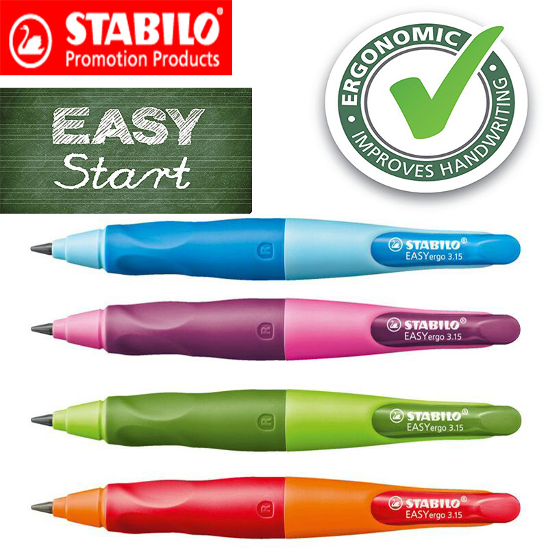 Stabilo Mechanical Pencil 3.15mm Pencil Lead Professional Left Hand Right Hand Holding Pen Automatic Pencils Gifts for Students pilot dr grip mechanical pencil 0 5mm shake lead out pencil