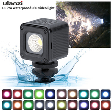 L1 Pro Mini LED Light Waterproof Lighting with 20 Color Gels for Smartphone Camera ,Video, Underwater For DJI OSMO Action