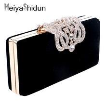 MeiyaShidun Flower Crystal Evening Bag Day Clutch Bags Clutches Lady Wedding Purse Rhinestones Wedding Handbags Mini Evening Bag