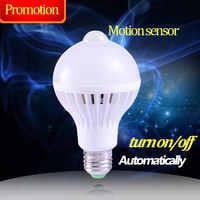 E27 PIR capteur de mouvement Ampoule lampe à Led intelligente E27 5 W 7 W 9 W Ampoule de détection de mouvement infrarouge Led 220 V Lampadas Led pour la maison