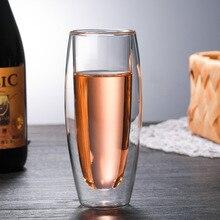 240 мл, двойная стеклянная чашка, Кремниевая прозрачная креативная чашка для шампанского, термостойкая чашка для сока, высокое качество, чашка для красного вина, лимона