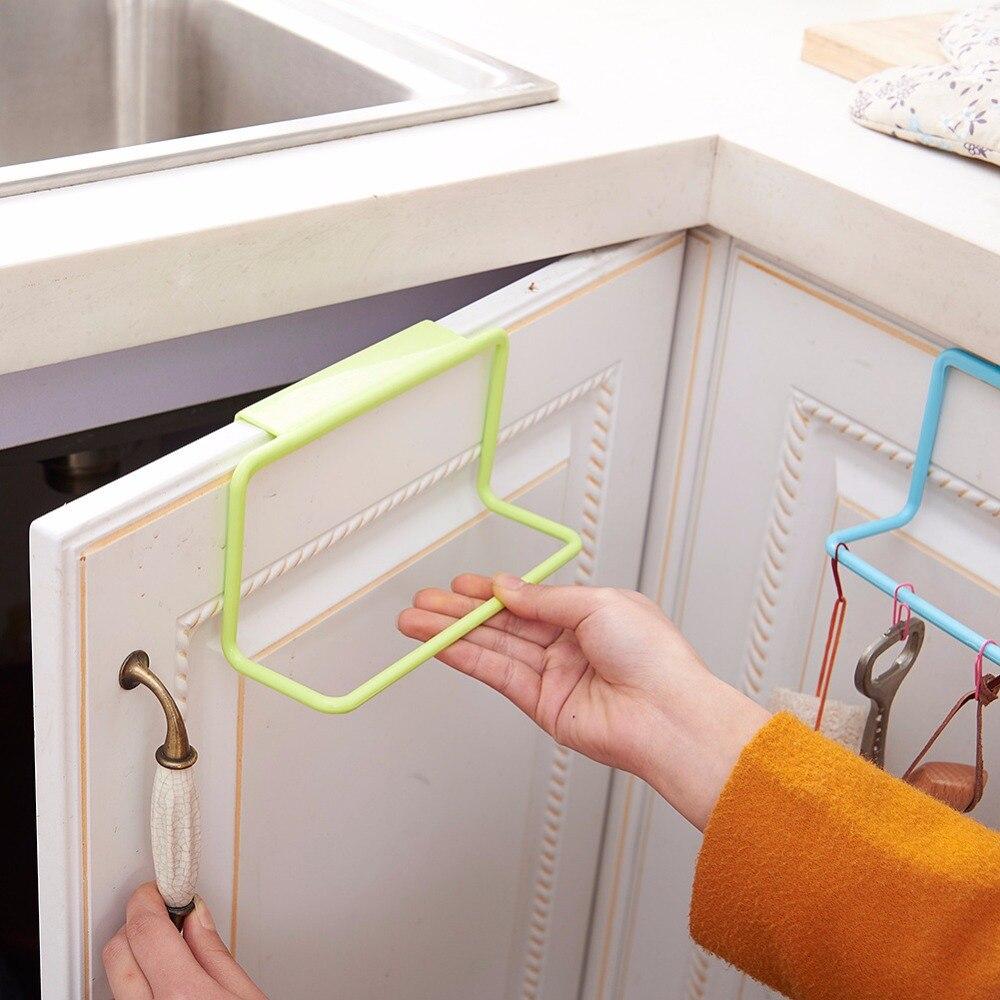 Us 0 9 20 Off Aliexpress Com Buy Towel Rack Hanging Holder Cupboard Kitchen Cabinet Bathroom Towel Rack Sponge Holder Wardrobe Cabinet Storage
