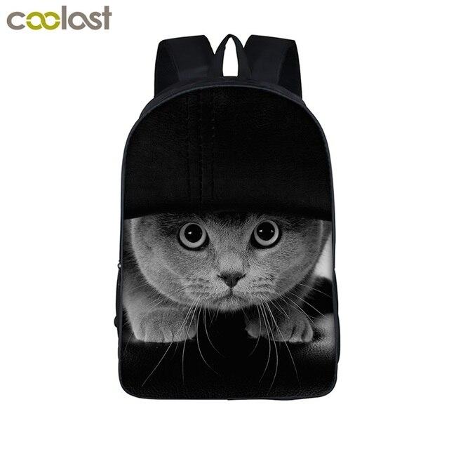 e1d182d41e Animal Print Student Backpack Cat   Dog   Tiger   Piggy Backpack For Teens  Girls Children