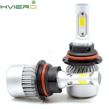 2X Auto Headlight 9004 HB1 Hi-Lo High Low Beam S2 COB IP65 Waterproof 6500K 72W 8000LM Headlamp Led Automotivo DC 12V 24V