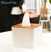 Creative Small Square Tissue Box Home Simple Dining Table Napkin Holder For Household Storage Products