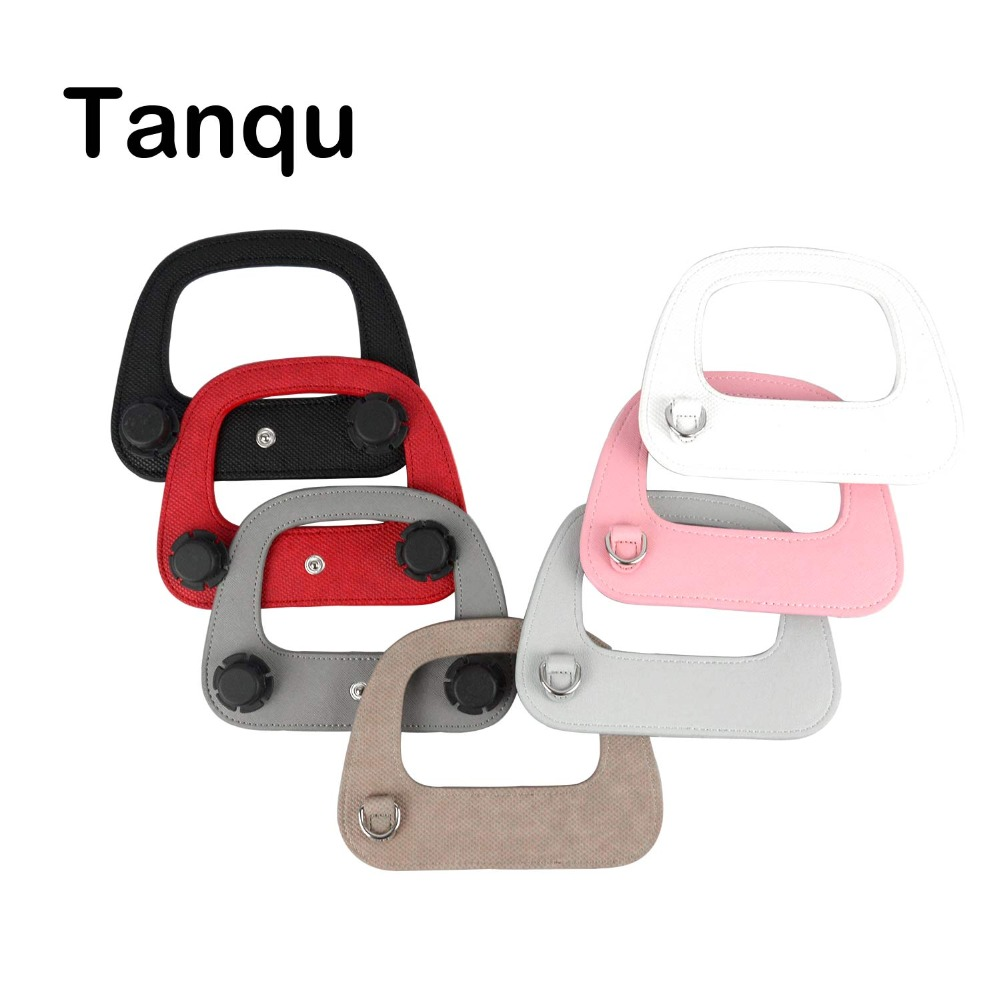 Tanqu Colorful D Buckle Ring Oblong Faux PU Leather Handle For Obag 50 Bag  Handle For O Bag 50 Handbag Accessory