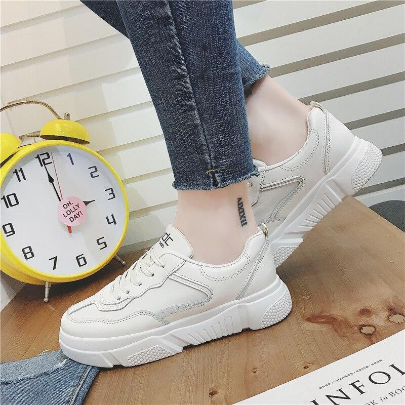 Zapatillas Beige Las Chaussure Moda Mujeres Mujer Transpirables blanco Zapatos De Jbllyy Planos 2019 Primavera Casuales La Blancas Otoño fgaOI