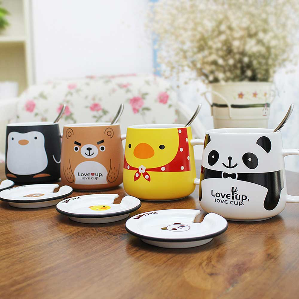 Jolly Upstyle Coffee Mug Animal Cartoon Office Ceramic Travel Cup Water Tea Lidand Handle Milk Mugs From Home On Upstyle Coffee Mug Animal Cartoon Office Ceramic Travel Cup