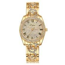 GENBOLI Fashion Women Watch With Diamond Gold Watch Ladies T