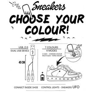 Image 5 - 7 Ipupas Giỏ Nhiều Màu Dạ Quang Sneakers Unisex Trẻ Em Giày Đèn Led Homme Femme Lumineuse Schoenen Sáng Chaussures Phát Sáng Giày