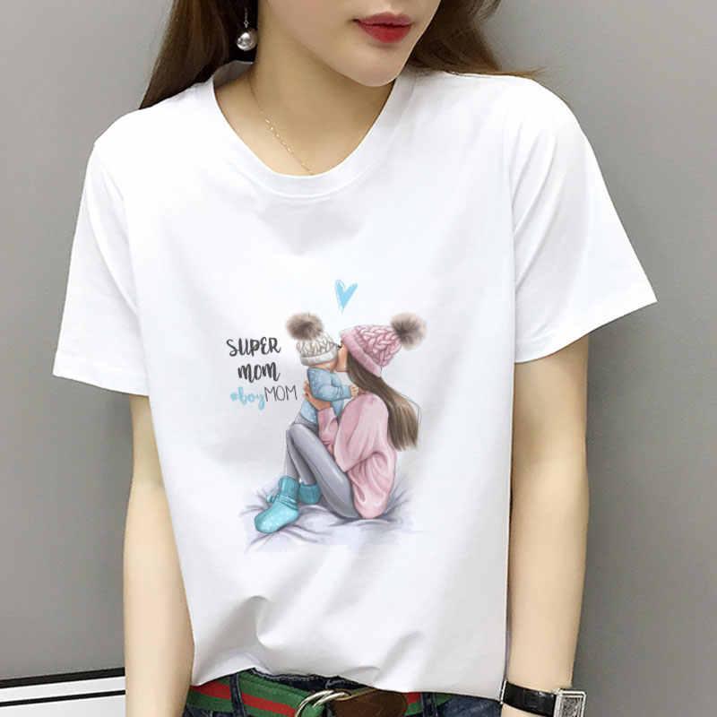 ba6e6cbc Women Fashion Funny Printed Super Mom Graphic Tshirt Girl Clothing  Streetwear Top Grunge Aesthetic Shirt Summer