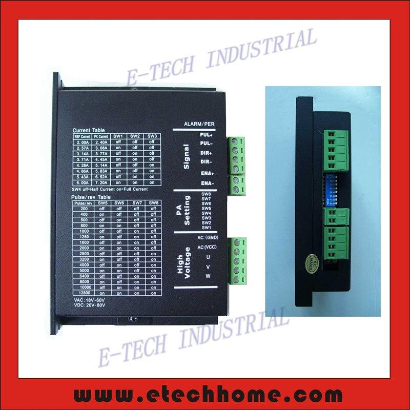 ФОТО 3 phase Stepper Motor Driver 3MA860 For NEMA 23 34 Stepper 18-80V DC or 18~60V AC input  2.0-8.3A output for CNC