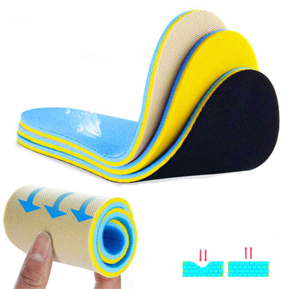 1Pair Memory Shoes Insoles Absorbent Deodorant Foot Care Soft Pain Relief Soft