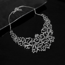 Фотография TrinketSea 2017 New Arrival Women Hollow Sliver Statement Necklace Short Chokers Fashion Jewelry Cool Metal Torque Necklaces