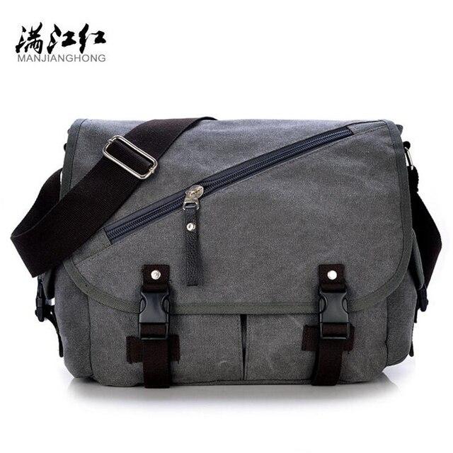 cdff0072db67 MANJIANGHONG Vintage Men s Messenger Bags Canvas Shoulder Bag Fashion Men  Business Crossbody Bag Printing Travel Handbag P195