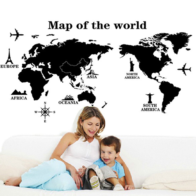 Aliexpresscom Buy 3d Wallpaper Large Size World Map World Travel