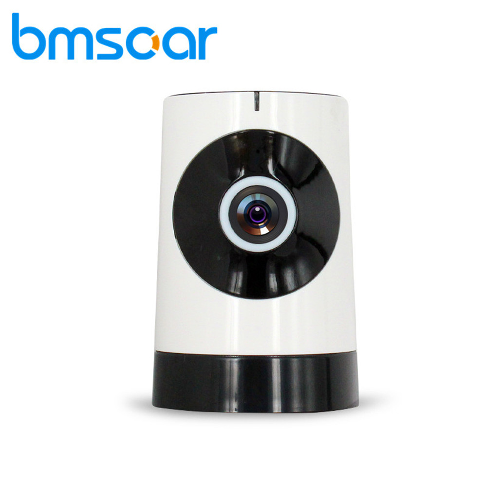 Bmsoar Wifi Wireless Baby Monitor IP Camera Panoramic Fisheye 180 Degree View 720P HD Network CCTV Security Camera With IR-cut bmsoar wifi ip camera ir night vision 720p hd p2p network wireless pan tilt home security baby monitor yoosee