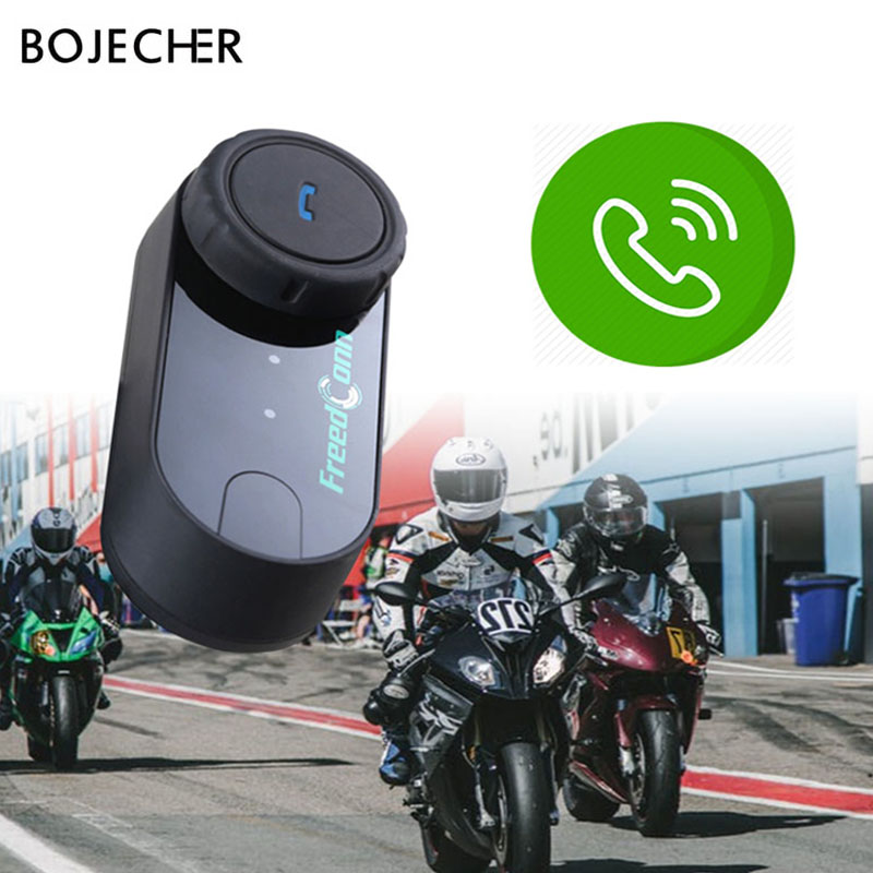 Motorcycle Helmet Wireless Headphone Bluetooth Waterproof Freedconn T-COM VB Handsfree Interphone Headset With 3Riders +FM Radio