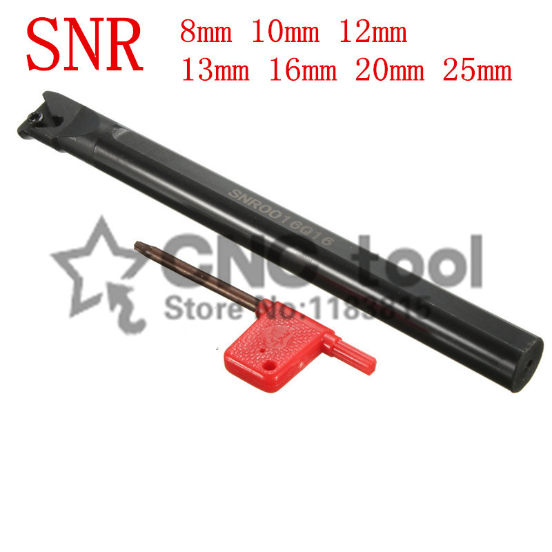 SNR0008K11 SNR0010K11 SNR0012M11 SNR0013N16 SNR0016Q16 SNR0020R16 SNR0025S16 CNC Internal Thread Turning Tool Rod Free Shipping