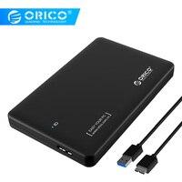 ORICO HDD Gehäuse 2599US3 Sata zu USB 3.0 HDD Fall Werkzeug Kostenloser für 7mm 9 5mm 2 5 inch HDD und SSD-in HDD-Gehäuse aus Computer und Büro bei