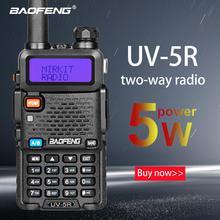 цена на BaoFeng UV-5R walkie talkie two way cb radio upgrade version baofeng uv5r 128CH 5W VHF UHF 136-174Mhz & 400-520Mhz