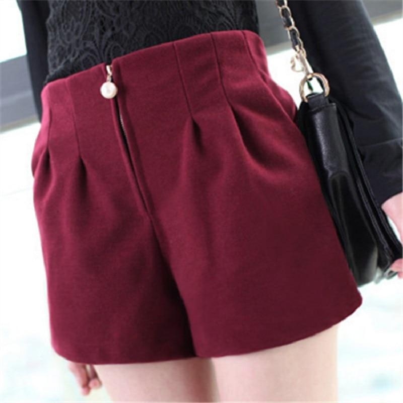 Frauen Frühlingsmodelle Frauen Woll Shorts Perle Reißverschluss - Damenbekleidung - Foto 1