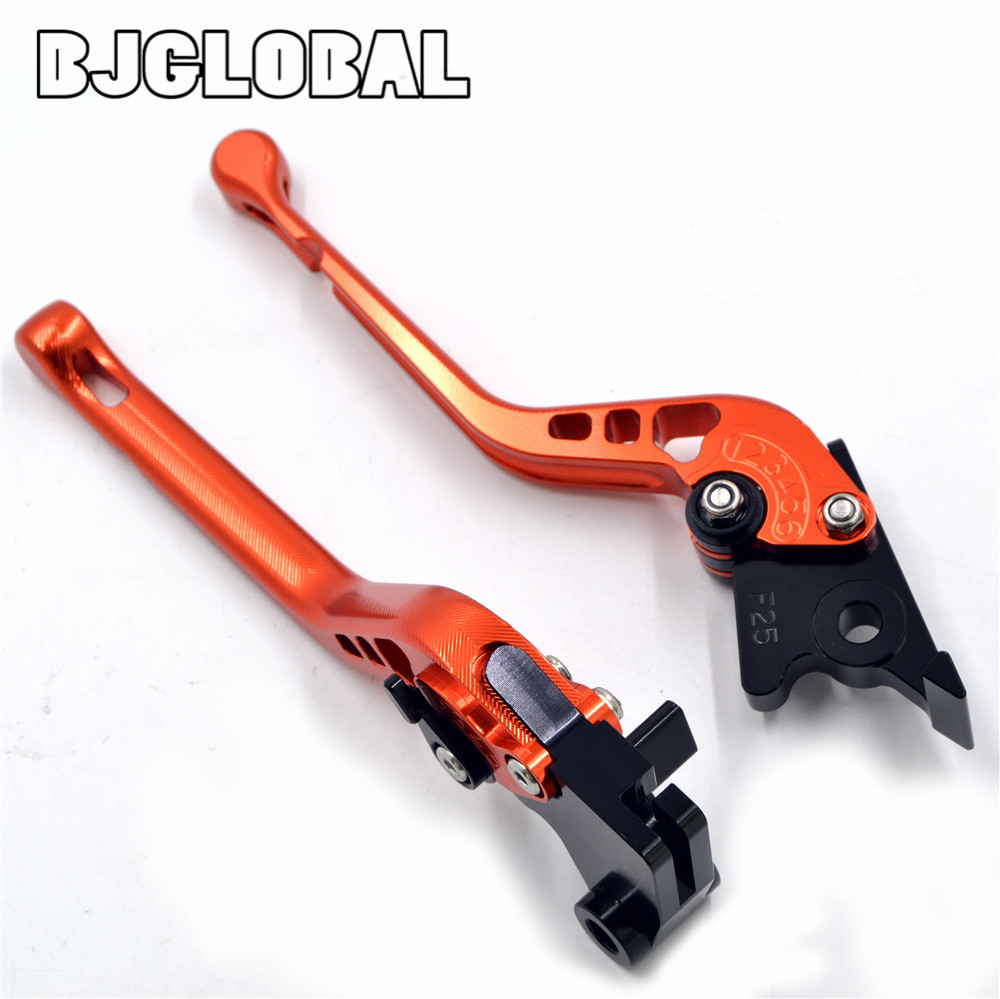 New Motorcycle CNC 3D Adjustable Long Brake Clutch Levers  Motocross Brakes Lever For KTM 690 Duke R 2014-2015 high quality cnc aluminum motorcycle adjustable brake clutch lever ergonomic designed brakes levers for ktm 200 125 390 duke