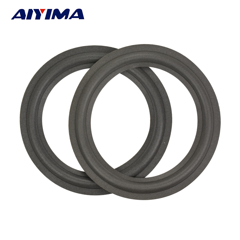 AIYIMA 2Pcs 8 INCH Speaker Foam Side Woofer Bass Speaker Foam Repair Accessories DIY Sponge Bubble Rdge Ring Circle