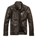 Brand New Men's motorcycle leather European style plus velvet leather jacket men jaqueta de couro masculina leather jacket coat
