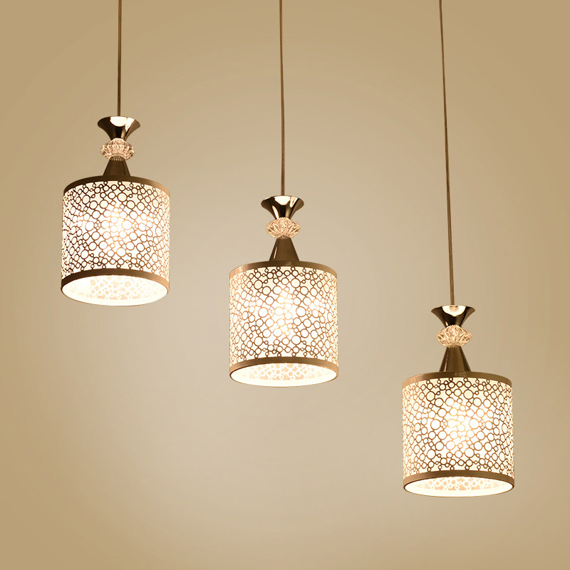 BDBQBL 3 Heads Cylindrical Pendant Lights Modern Simple White LED Pendant Lamp AC 110-240V Cord Pendant Living Room Hanglamp zg9046 pendant light ac 110 240v