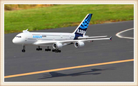 A380 Airbus RC remote control toy aircraft EPO fixed wing double ducted huge fuselage aircraft civil aircraft