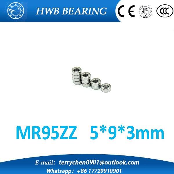 Free Shipping 10 PCS MR95ZZ Bearings 5x9x3 mm Miniature Ball Bearings L-950ZZ mr95z  mr95 zz  mr952z  free shipping 10 pcs 684zz 684z 684 bearings 4x9x4 mm miniature ball bearings l 940zz abec5