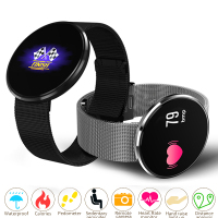 Unisex Smart Watch Women Men Blood Oxygen Pressure Heart Rate Monitor Pedometer App Bluetooth Smart Sport Watch Round Wristwatch