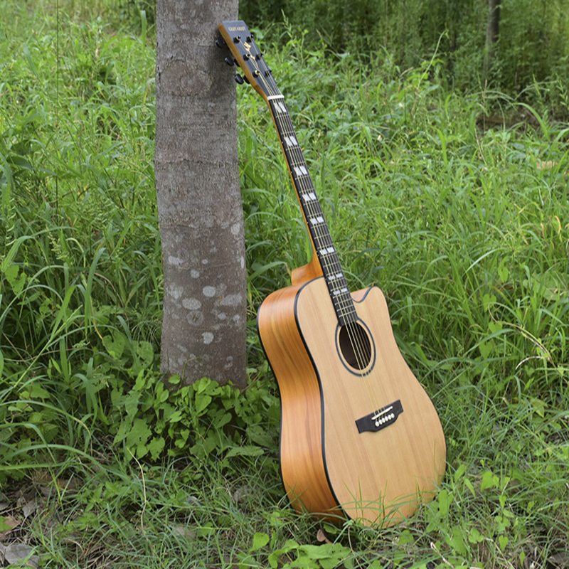 41-inch acoustic guitar spruce Nanyang wooden acoustic guitar high-end musical instrument guitar music electric guitar image