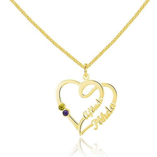 925 Sterling Silver Heart Collier Bijoux Nom personnalisé, Graver - Bijoux - Photo 3