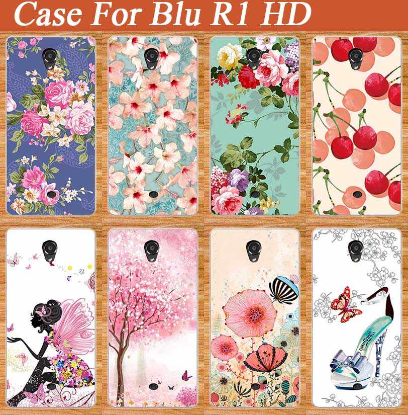 Popular Patterns Painting Case FOR Blu R1 HD soft TPU Cover Flowers Stylish Fruit DIY Design Brilliant For BLU R1 HD Case Cover