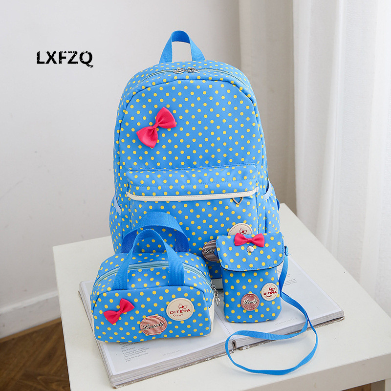 Backpack for girls 3 pieces school bags mochilas escolares infantis Backpacks for adolescent girl butterfly children's backpacks