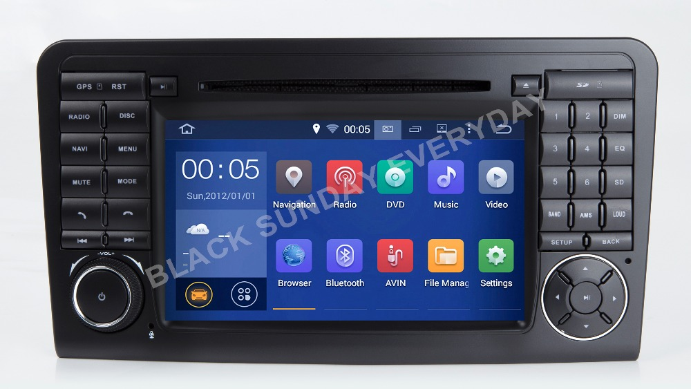 7 pouce 1024*600 octa base Android 8.0 VOITURE DVD GPS POUR Mercedes Benz ML W164/GL X164 ML350 ML320 ML280 GL350 GL450 2005-2012