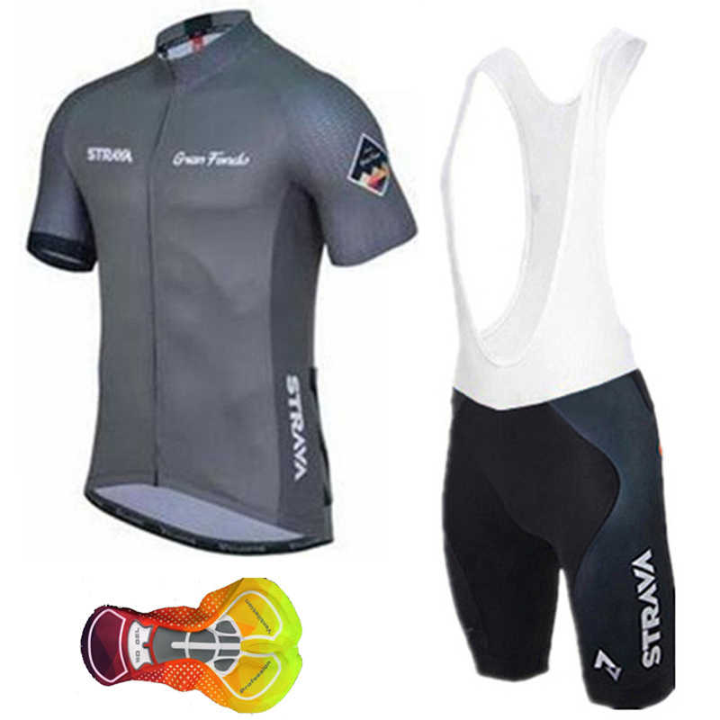 Strava Short Sleeve Set Cycling Jersey 2019 Breathable Bike Clothing  Maillot Ropa Ciclismo Uniformes Team Cycle Bicycle Wear I18