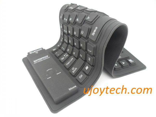 Mini Foldable Bluetooth Wireless Silicone Keyboard for Smart Phone/Tablet/Android/Laptop Waterproof New Design Free Shipping