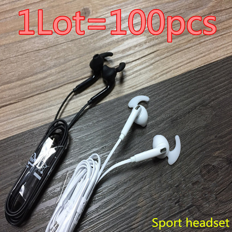 HOT! high quality 100pcs/lot S7 Headsets In-ear Earphones Headphones Hands-free with Mic Logo For Samsung HuaWel Nokia HTC Xiaom 30pcs lot dhl high quality for samsung