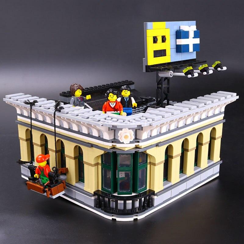 DHL 15005 City Building ของเล่นเข้ากันได้กับ 10211 Emporium Grand Building Blocks ชุดอิฐชุดของเล่นเช่นของขวัญเด็ก-ใน บล็อก จาก ของเล่นและงานอดิเรก บน   3