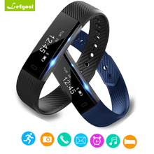 ID115 Bluetooth Gelang Pintar Pedometer Band Kebugaran Tracker Bluetooth 4.0 Wristband Langkah Kontra Memantau Tidur Gelang Olahraga
